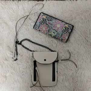 Like new leather crossbody bag & wallet